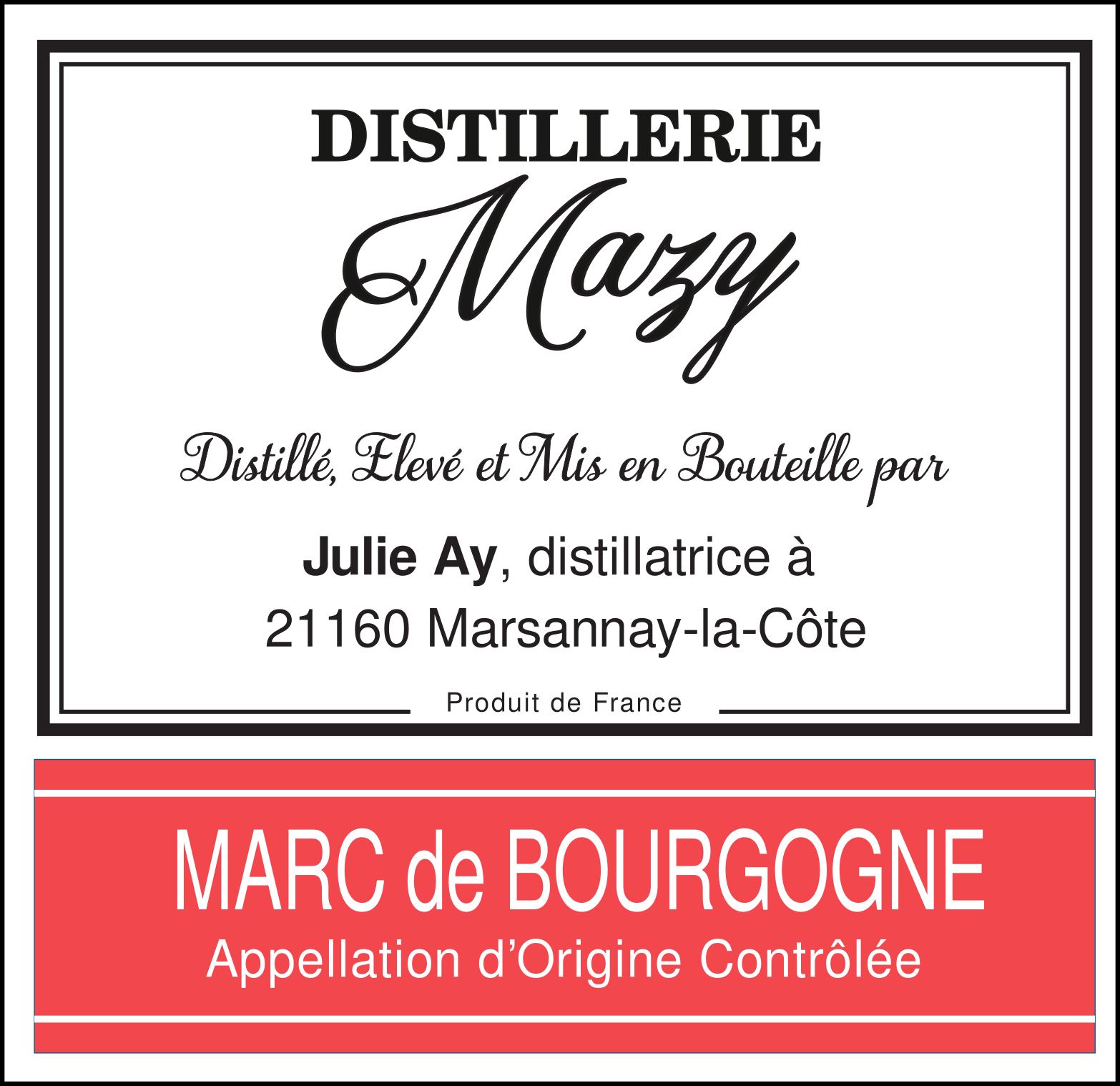 AOC Marc de Bourgogne