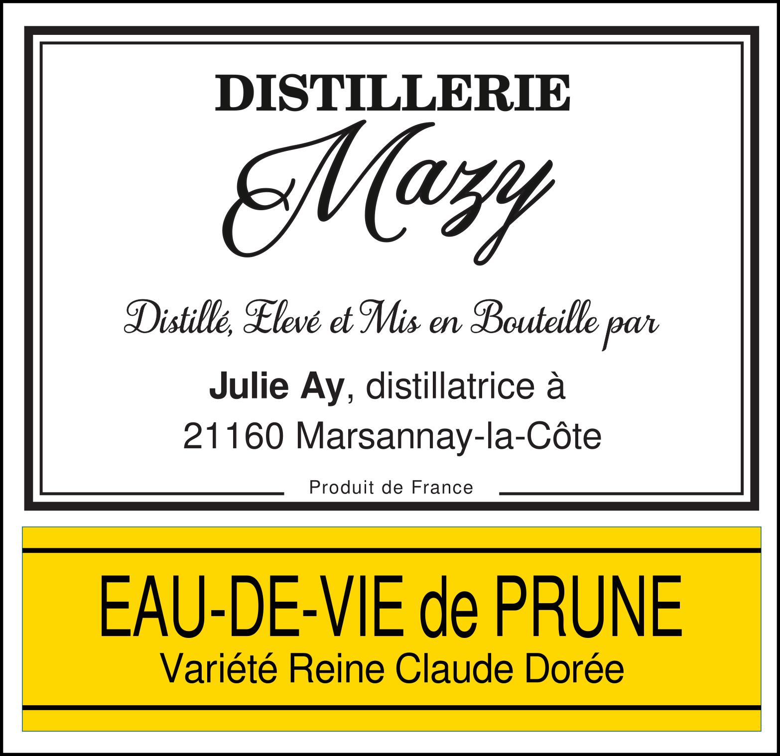 Eau-de-vie Prune Reine Claude